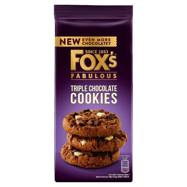 FOXS CHUNKIE COOKIES TRIPLE CHOCOLATE 180G